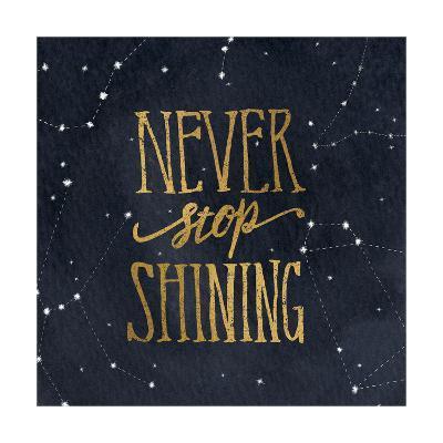Starry Words II v.3 Gold-Sara Zieve Miller-Art Print