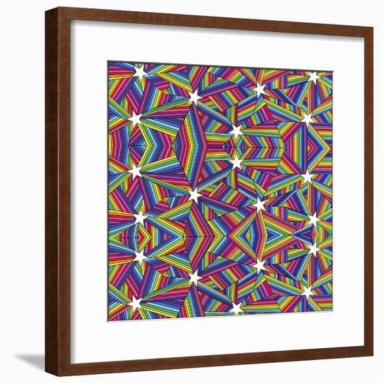 Stars A-Howie Green-Framed Giclee Print