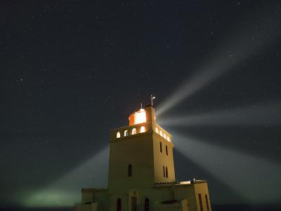 Stars Above a Lighthouse in Southern Iceland-Babak Tafreshi-Photographic Print