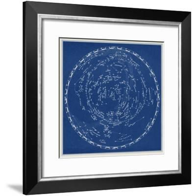 Stars and Constellations Chart--Framed Art Print