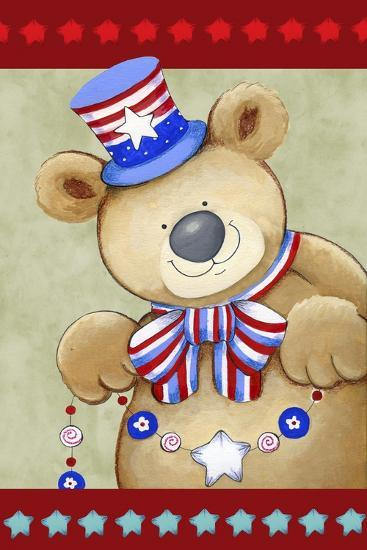 Stars and Stripes Bear-Valarie Wade-Giclee Print