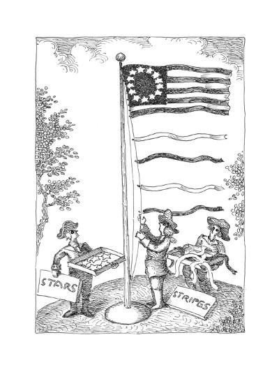 Stars and stripes - Cartoon-John O'brien-Premium Giclee Print