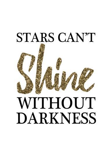 Stars Cant Shine Without Darkness-Victoria Brown-Art Print