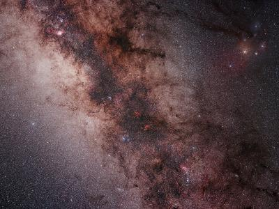 Stars, Nebulae and Dust Clouds around the Center of the Milky Way--Photographic Print