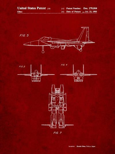 Starscream Transformer Patent-Cole Borders-Art Print