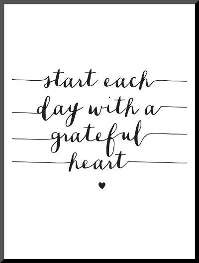 Start Each Day With A Grateful Heart-Brett Wilson-Mounted Print