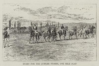 Start for the Jubilee Stakes, One Mile Flat-Alfred Chantrey Corbould-Giclee Print