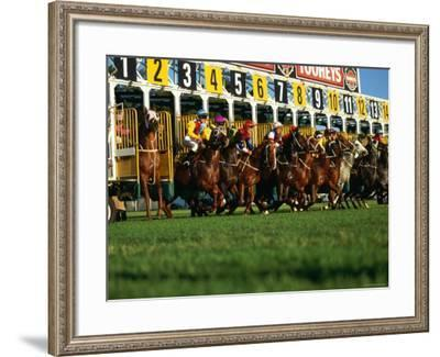 Start of Horse Race, Sydney, New South Wales, Australia-Oliver Strewe-Framed Photographic Print