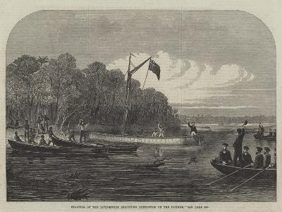 Starting of the Livingstone Searching Expedition on the Zambesi--Giclee Print
