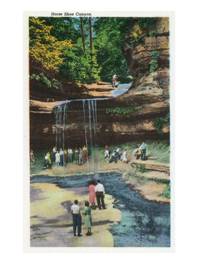 Starved Rock State Park, IL, View of Horseshoe Canyon-Lantern Press-Art Print