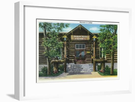 Starved Rock State Park, IL, View of the Starved Rock Lodge Entrance-Lantern Press-Framed Art Print