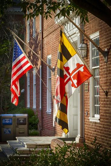 State and National U.S. Flags, Annapolis, Maryland, USA-Christopher Reed-Photographic Print
