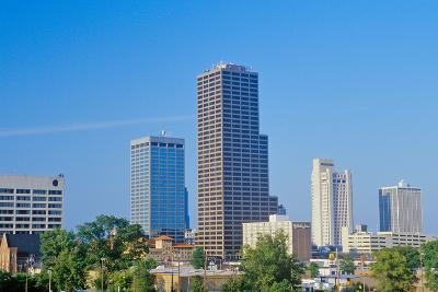 State capital and skyline in Little Rock, Arkansas--Photographic Print