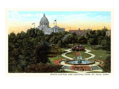 State Capitol and Park, St. Paul, Minnesota--Art Print