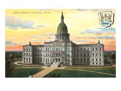 State Capitol, Lansing, Michigan--Art Print
