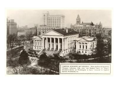 State Capitol, Richmond, Virginia--Art Print