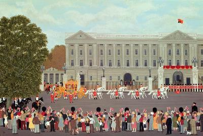 State Coach Leaving Buckingham Palace-Vincent Haddelsey-Giclee Print