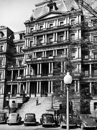 State Dept. Building Taken from the Steps of the Executive Ave. Entrance to the White House-Alfred Eisenstaedt-Photographic Print
