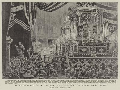 State Funeral of M Pasteur, the Ceremony at Notre Dame, Paris-Henri Lanos-Giclee Print