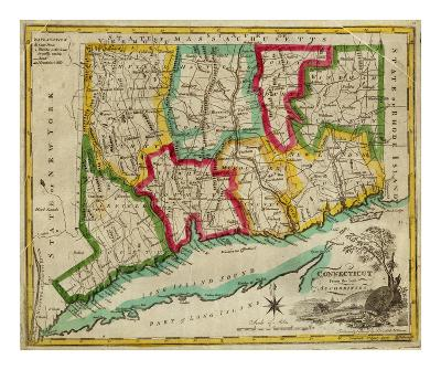 State of Connecticut, c.1827-Amos Doolittle-Art Print