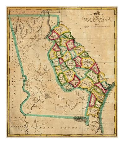 State of Georgia, c.1827-Robert Desilver-Art Print