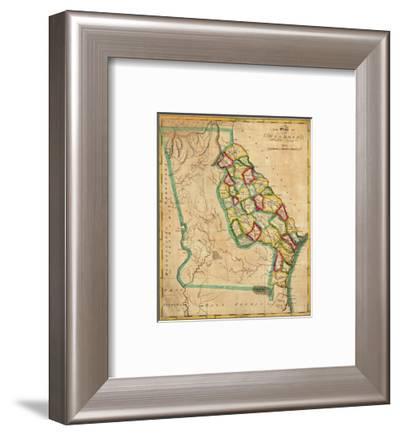 State of Georgia, c.1827-Robert Desilver-Framed Art Print