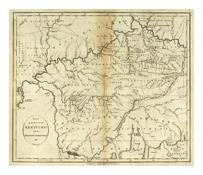 State of Kentucky, c.1796-John Reid-Art Print