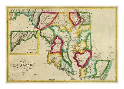 State of Maryland, c.1827-Robert Desilver-Art Print