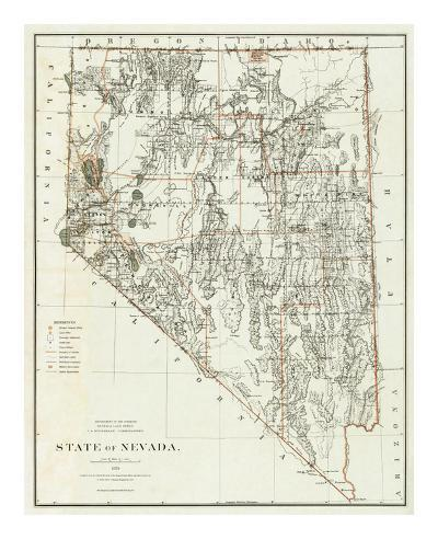 State of Nevada, c.1879--Art Print