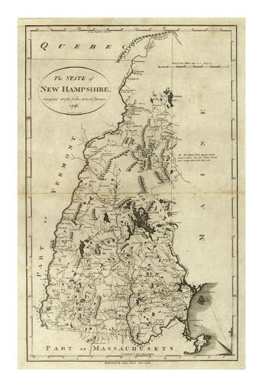 State of New Hampshire, c.1796-John Reid-Art Print