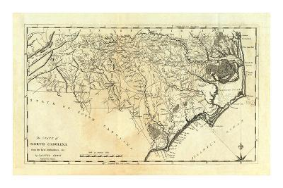 State of North Carolina, c.1795-Mathew Carey-Art Print