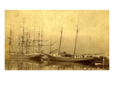 State of Washington Views: Schooner Vine (ca. 1890)--Giclee Print