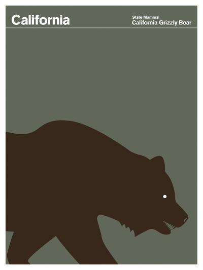 State Poster CA California--Giclee Print
