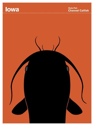 State Poster IA Iowa--Giclee Print