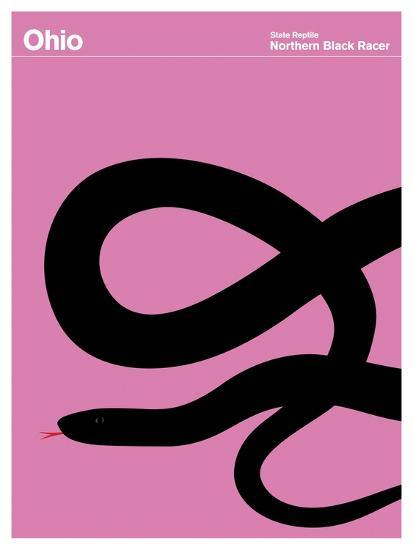 State Poster OH Ohio--Giclee Print