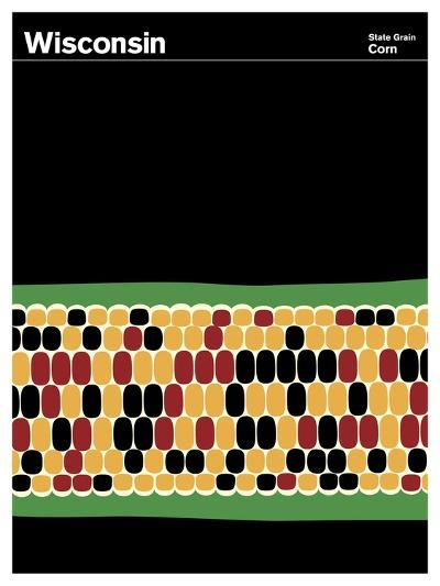 State Poster WI Wisconsin--Giclee Print