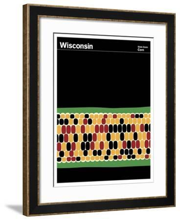 State Poster WI Wisconsin--Framed Giclee Print