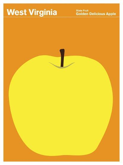 State Poster WV West Virginia--Giclee Print