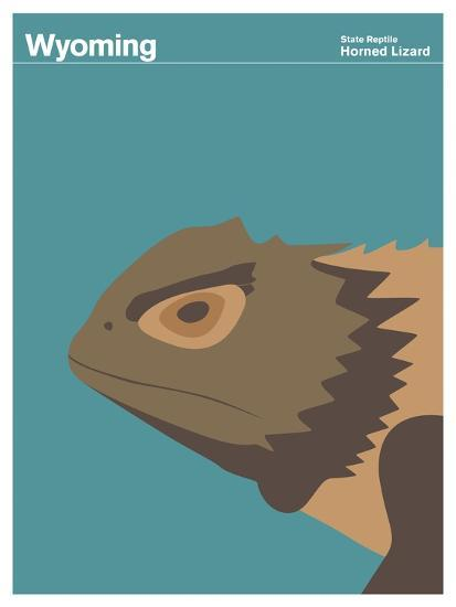 State Poster WY Wyoming--Giclee Print