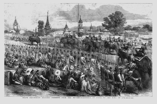 'State Procession Bearing Presents from the Governor-General of India to the King of Ava', 1856-Unknown-Giclee Print