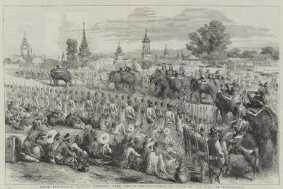 State Procession Bearing Presents from the Governor-General of India to the King of Ava--Giclee Print