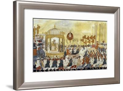 State Procession of Raja Tulsaji of Tanjore, circa 1780--Framed Giclee Print