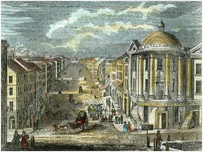 State Street, Albany, New York, USA, C1835--Giclee Print