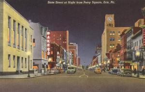 State Street at Night, Erie, Pennsylvania