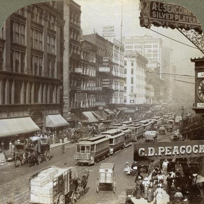 State Street, Chicago, Illinois, USA, 1908-Underwood & Underwood-Giclee Print