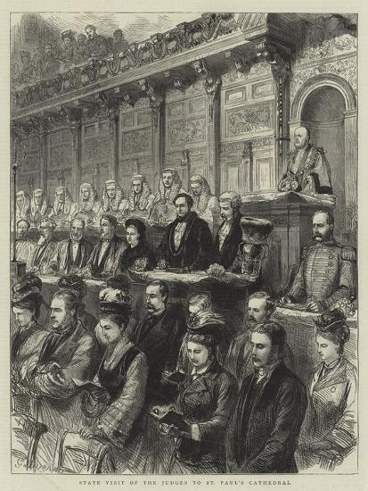 State Visit of the Judges to St Paul's Cathedral-Godefroy Durand-Giclee Print
