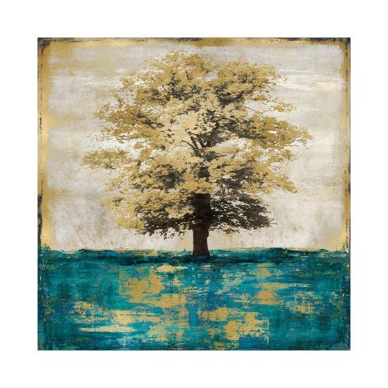 Stately - Aqua with Gold-Eric Turner-Giclee Print