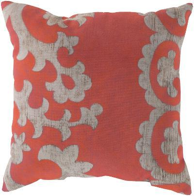 Stately Scroll Pillow - Coral--Home Accessories