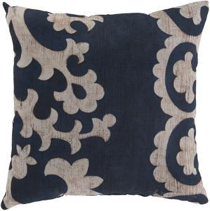 Stately Scroll Pillow - Navy
