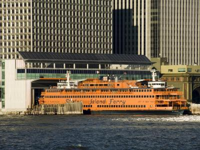Staten Island Ferry, Business District, Lower Manhattan, New York City, New York, USA-R H Productions-Photographic Print